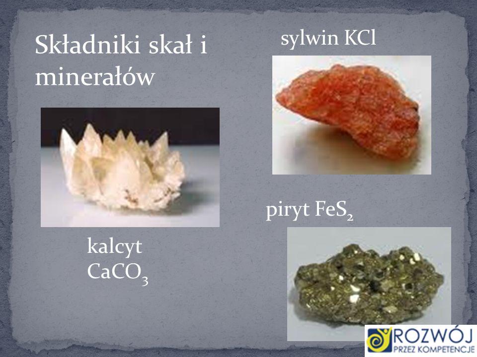 Składniki skał i minerałów