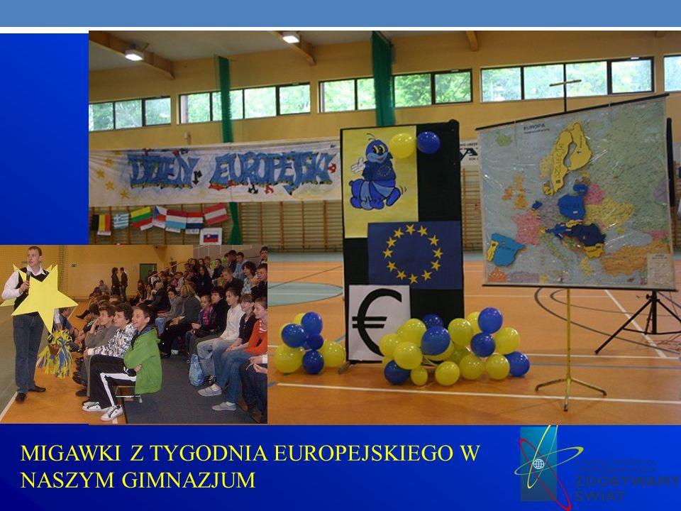 MIGAWKI Z TYGODNIA EUROPEJSKIEGO W NASZYM GIMNAZJUM