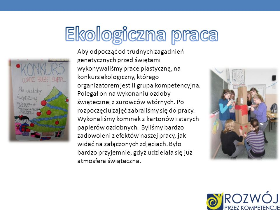 Ekologiczna praca