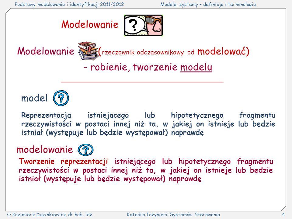 (rzeczownik odczasownikowy od modelować)