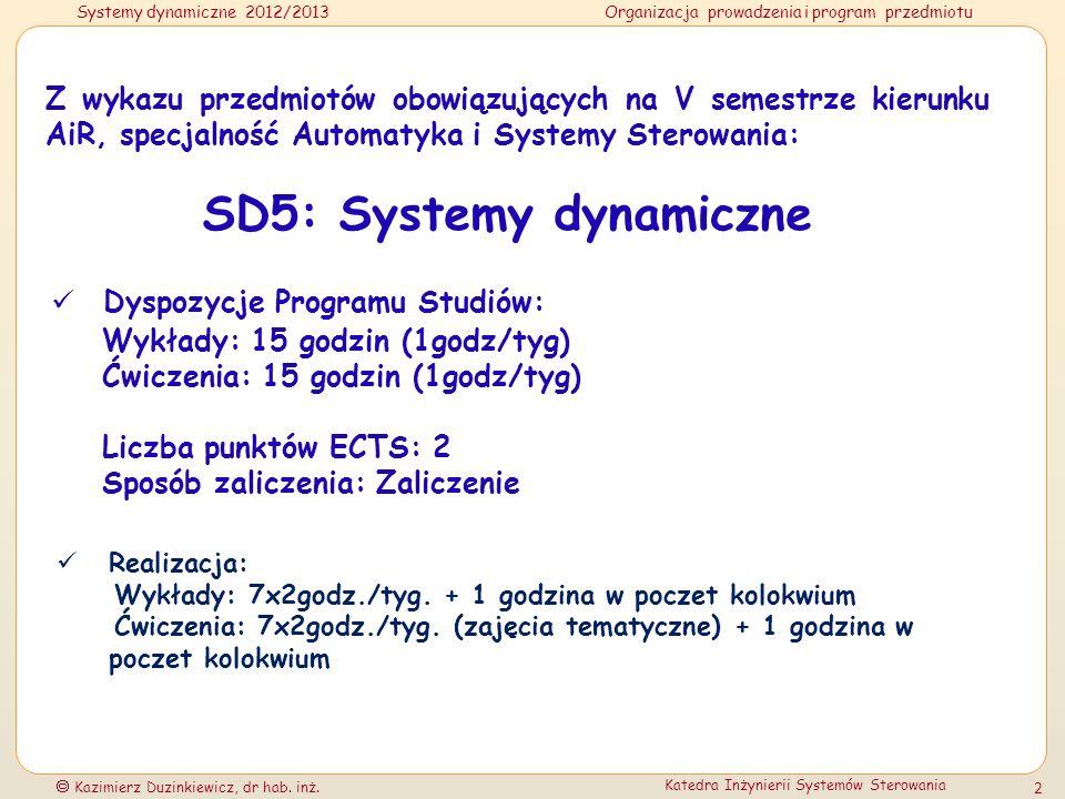 SD5: Systemy dynamiczne