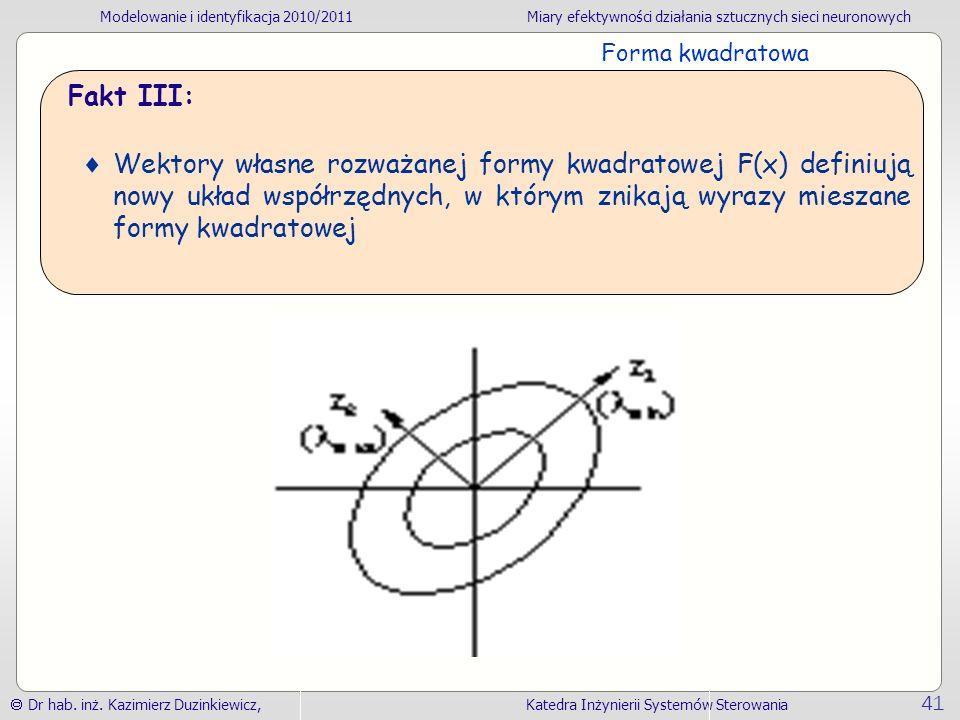 Forma kwadratowa Fakt III: