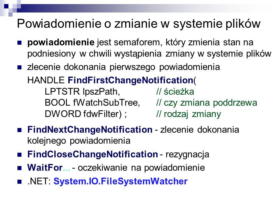Powiadomienie o zmianie w systemie plików