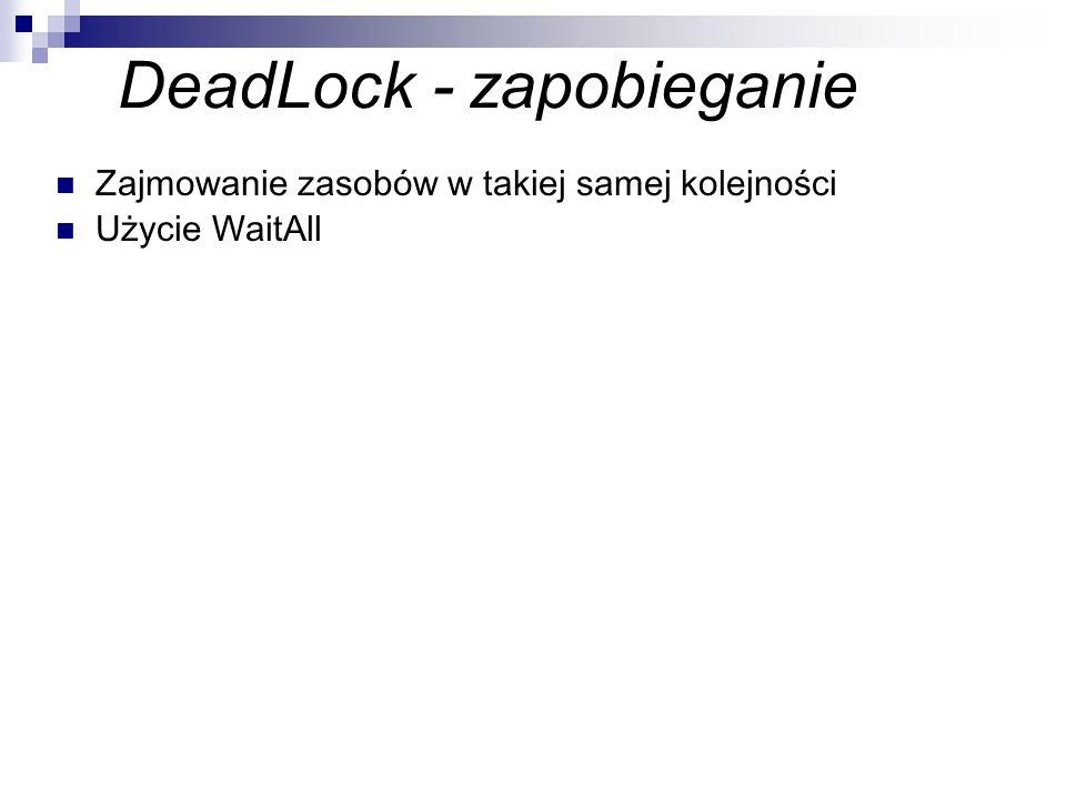 DeadLock - zapobieganie