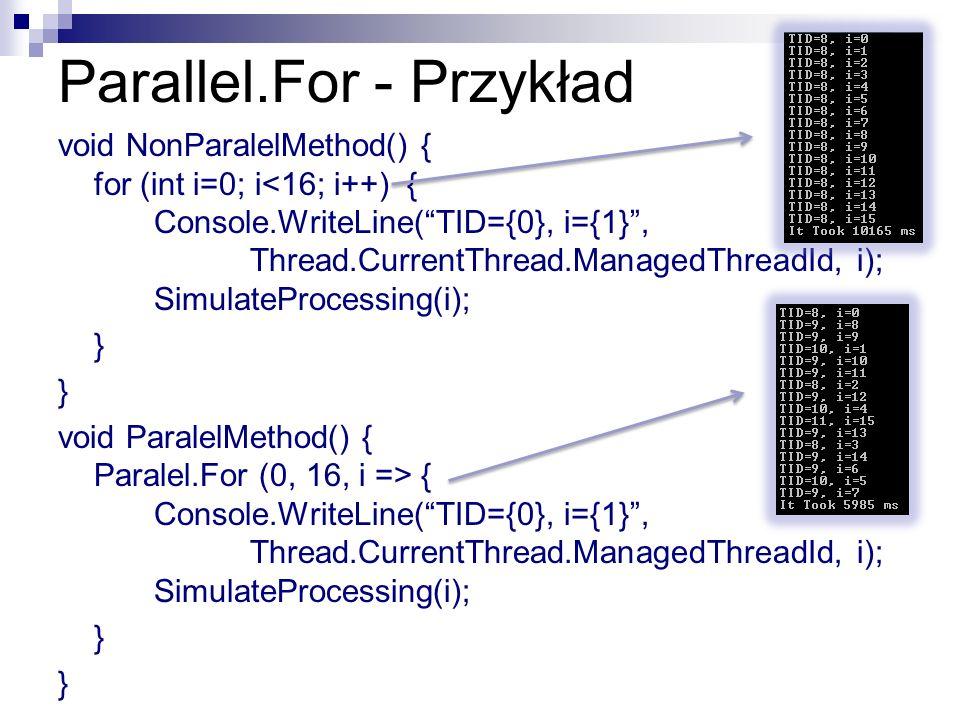 Parallel.For - Przykład