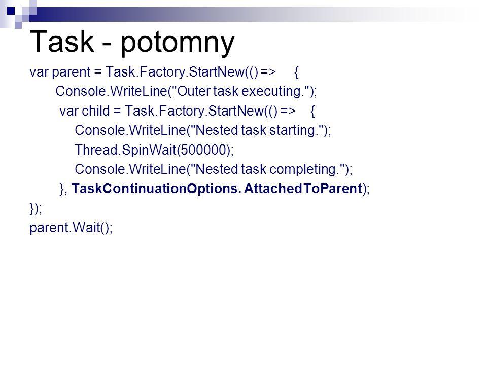 Task - potomny