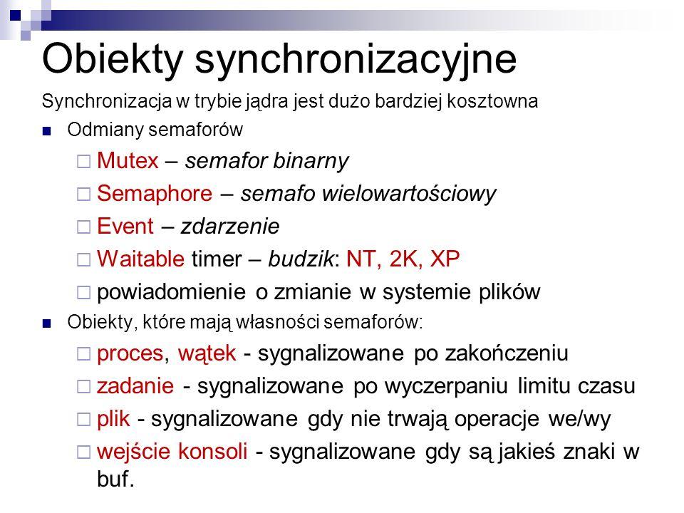 Obiekty synchronizacyjne