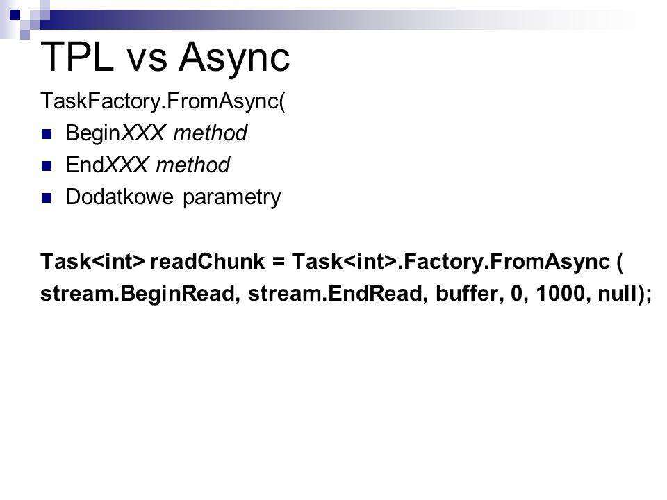 TPL vs Async TaskFactory.FromAsync( BeginXXX method EndXXX method