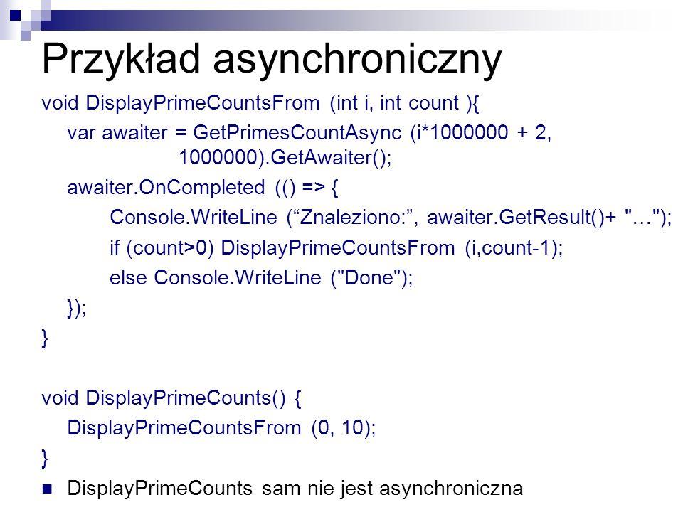 Przykład asynchroniczny