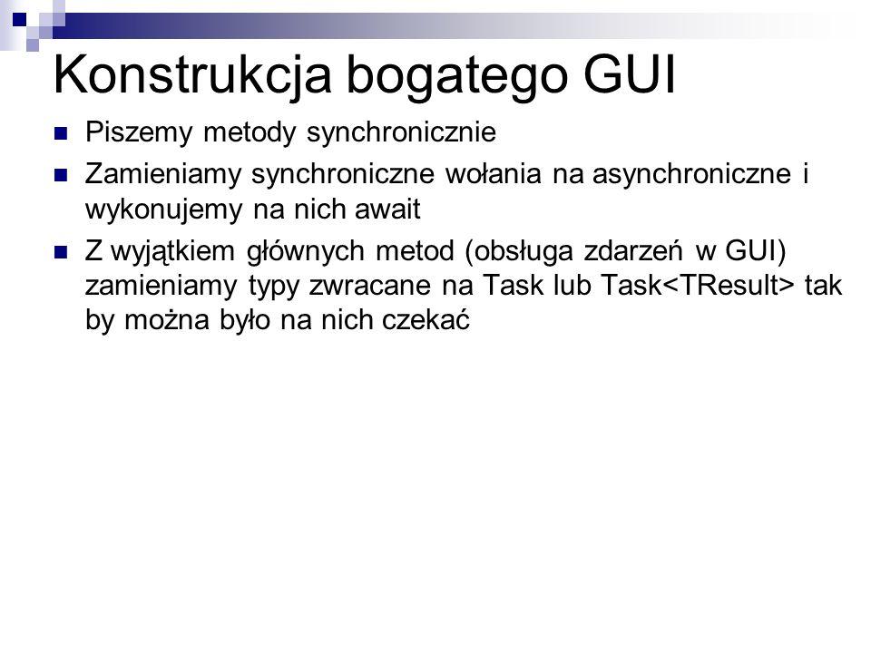 Konstrukcja bogatego GUI