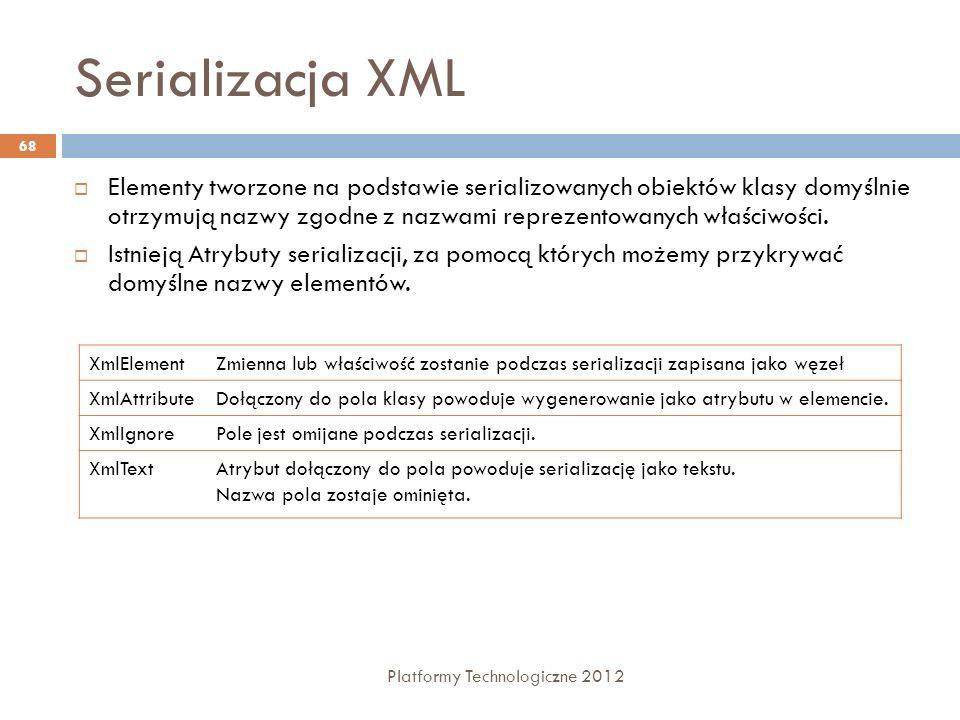 Serializacja XML
