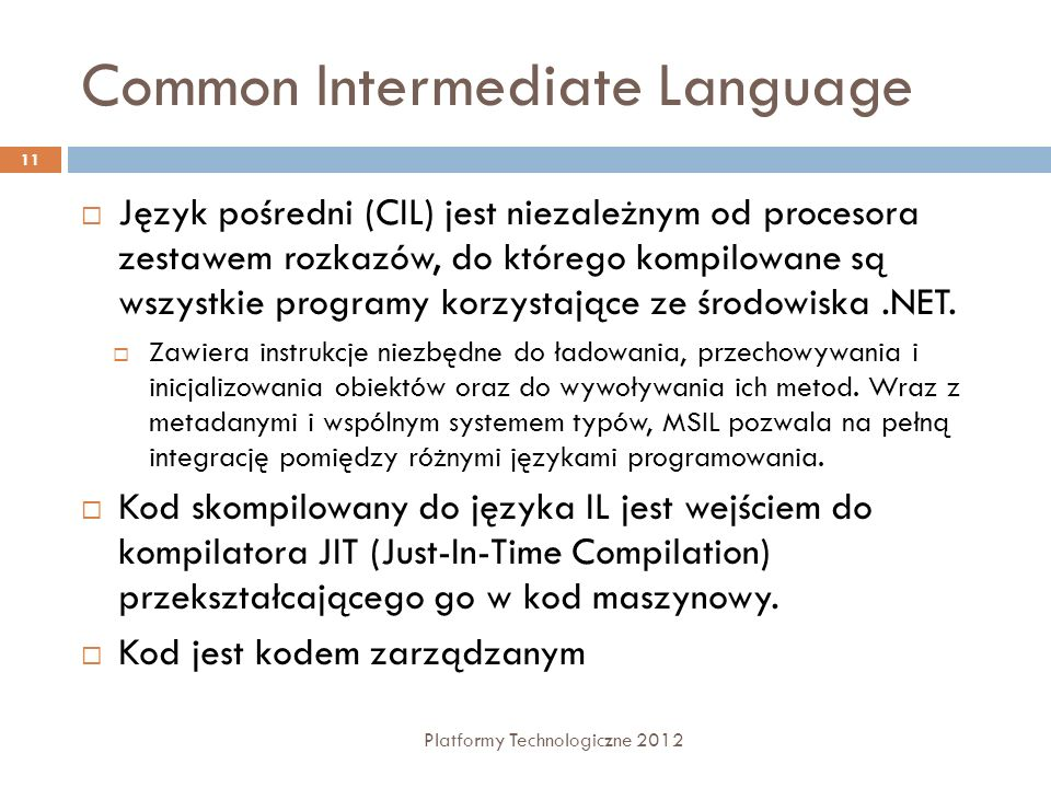 Common Intermediate Language