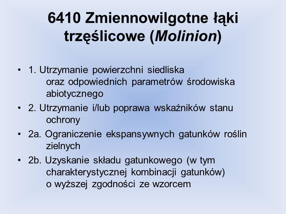 6410 Zmiennowilgotne łąki trzęślicowe (Molinion)
