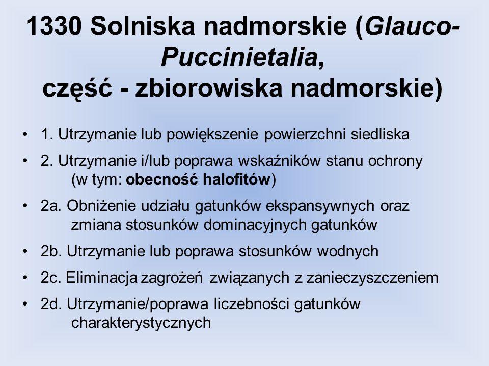 1330 Solniska nadmorskie (Glauco-Puccinietalia, część - zbiorowiska nadmorskie)