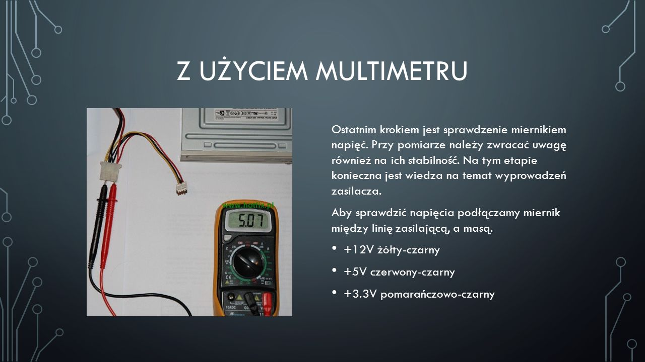 Z użyciem multimetru