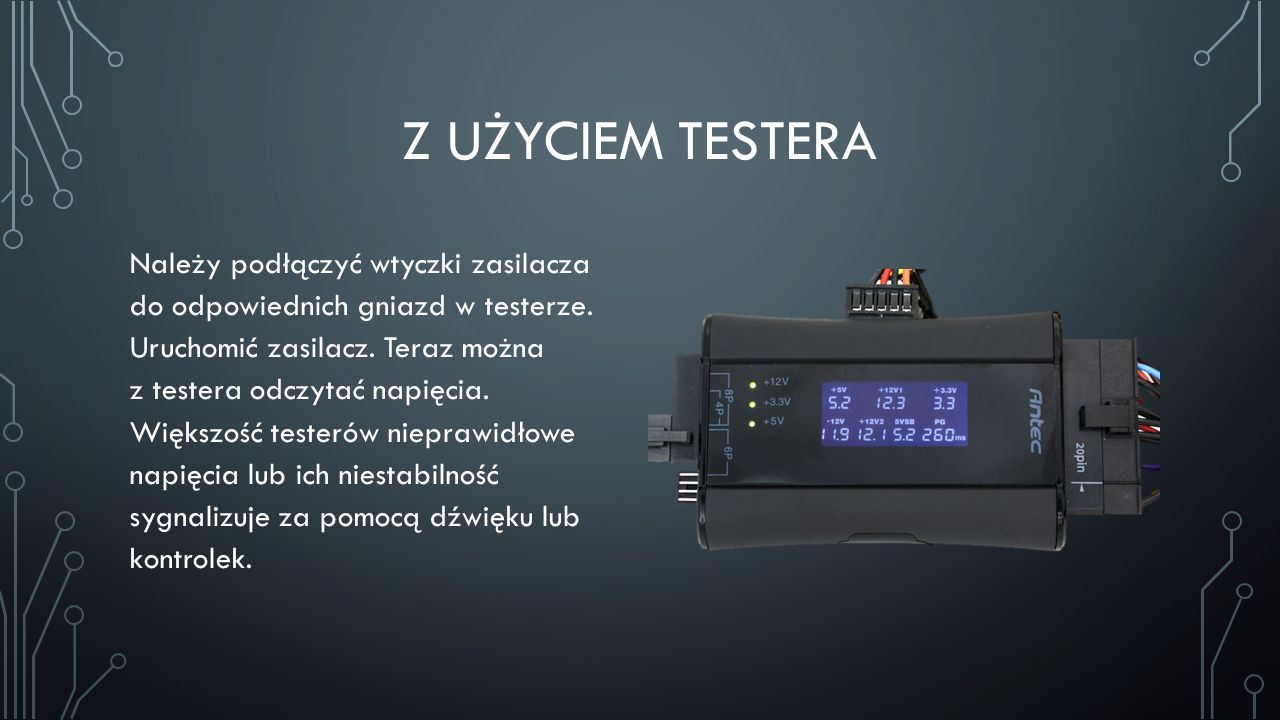 Z użyciem testera