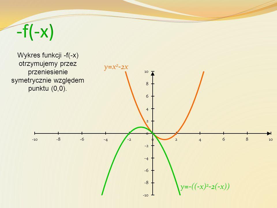 -f(-x) y=x2-2x y=-((-x)2-2(-x))