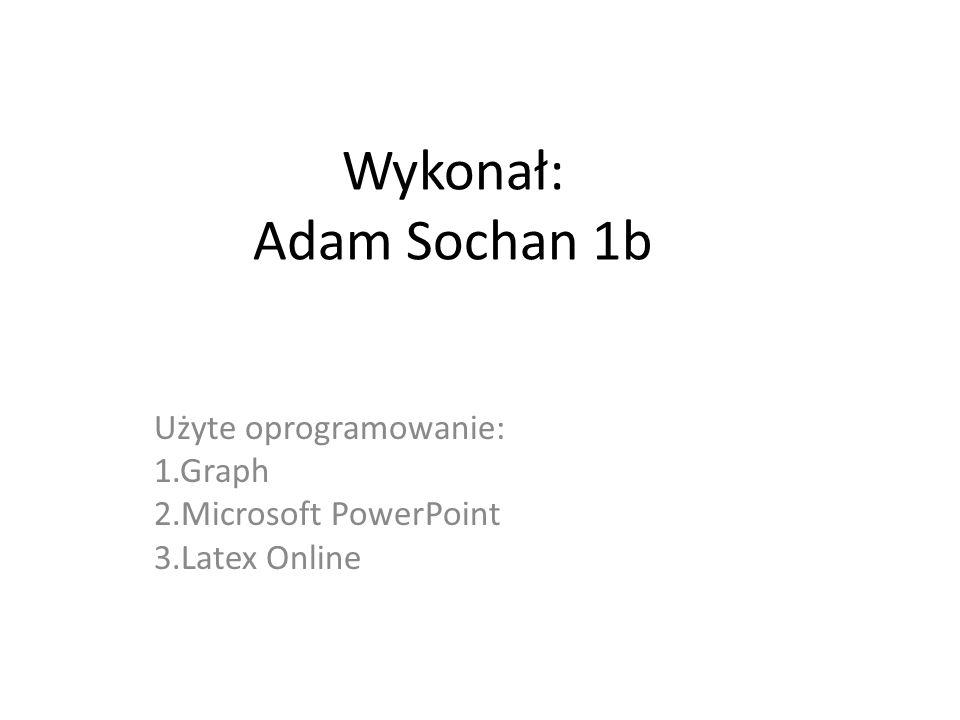 Użyte oprogramowanie: 1.Graph 2.Microsoft PowerPoint 3.Latex Online