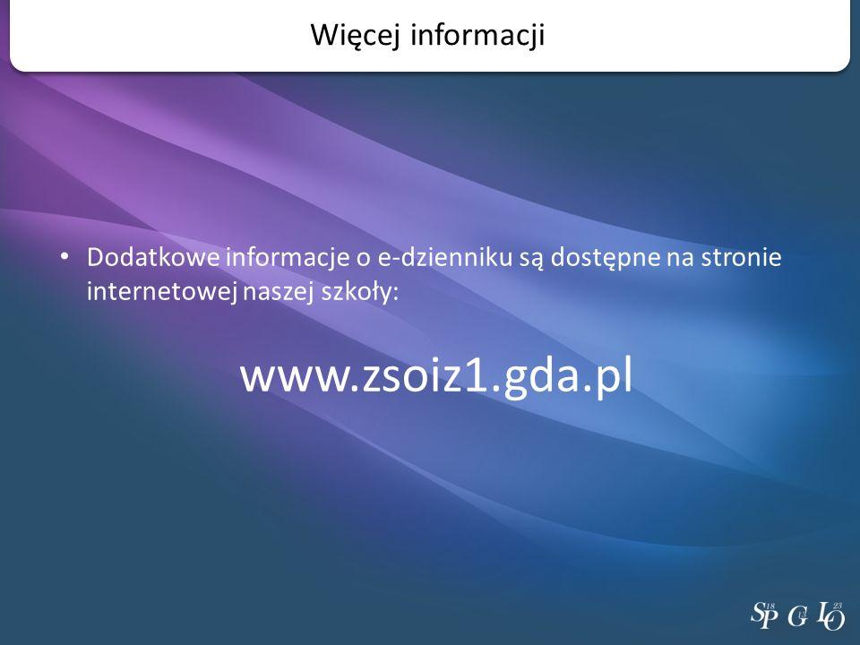 www.zsoiz1.gda.pl Więcej informacji