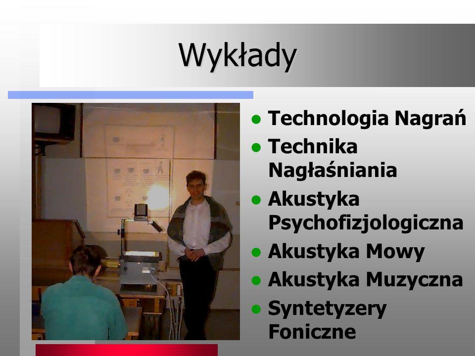 Wykłady Technologia Nagrań Technika Nagłaśniania