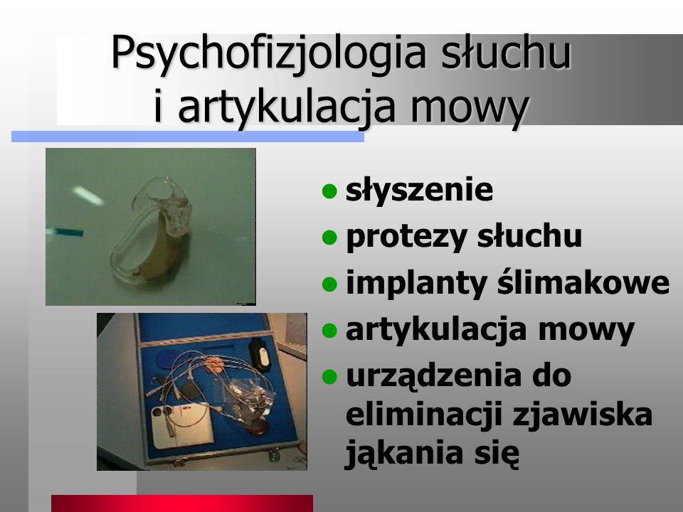 Psychofizjologia słuchu i artykulacja mowy