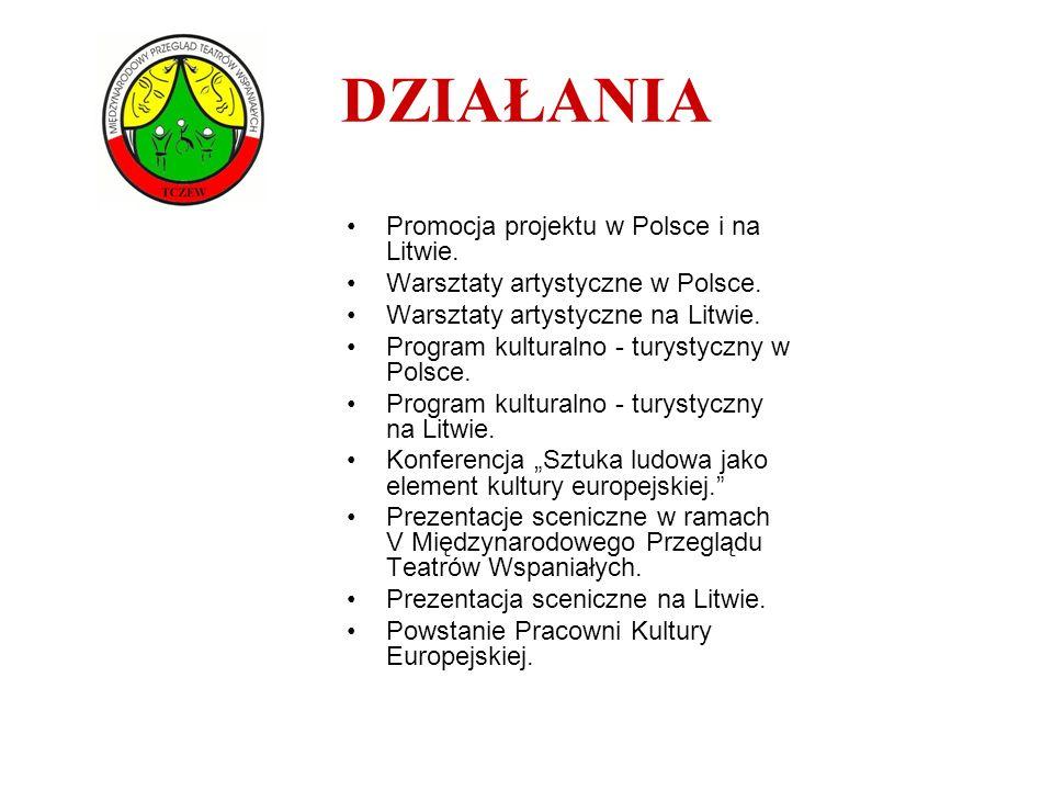 DZIAŁANIA Promocja projektu w Polsce i na Litwie.