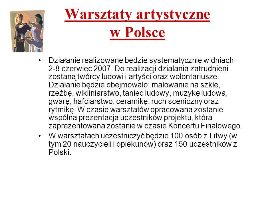 Warsztaty artystyczne w Polsce