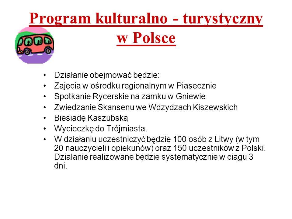 Program kulturalno - turystyczny w Polsce