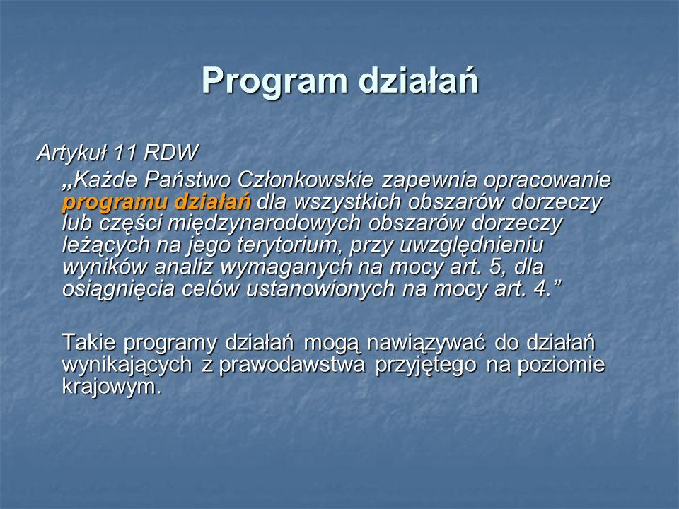Program działań Artykuł 11 RDW