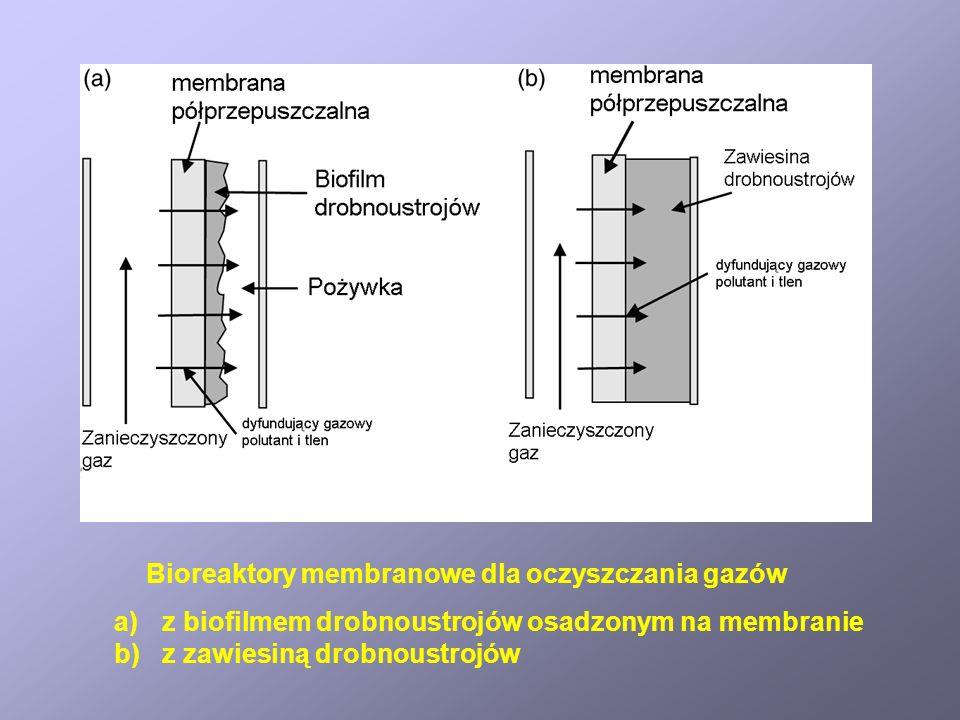 Bioreaktory membranowe dla oczyszczania gazów