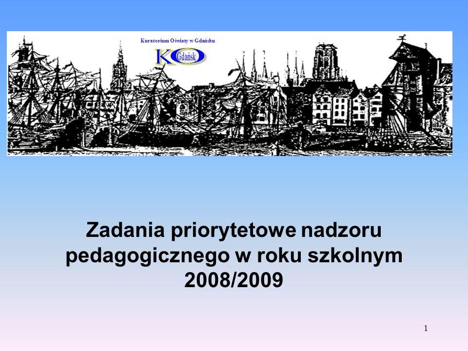 Zadania priorytetowe nadzoru pedagogicznego w roku szkolnym 2008/2009