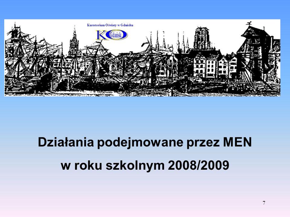 Działania podejmowane przez MEN