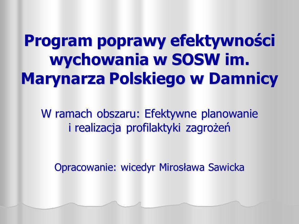 Program poprawy efektywności wychowania w SOSW im