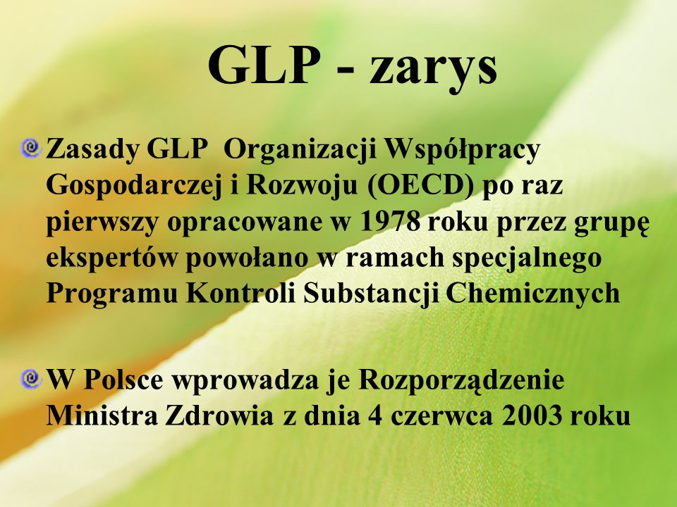 GLP - zarys