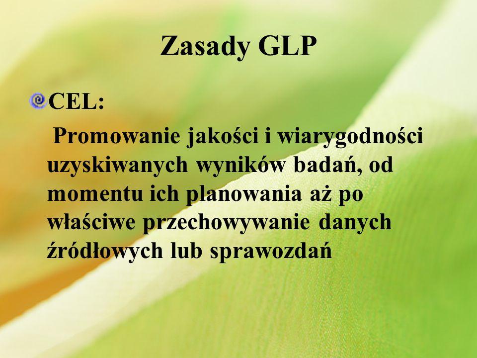 Zasady GLP CEL: