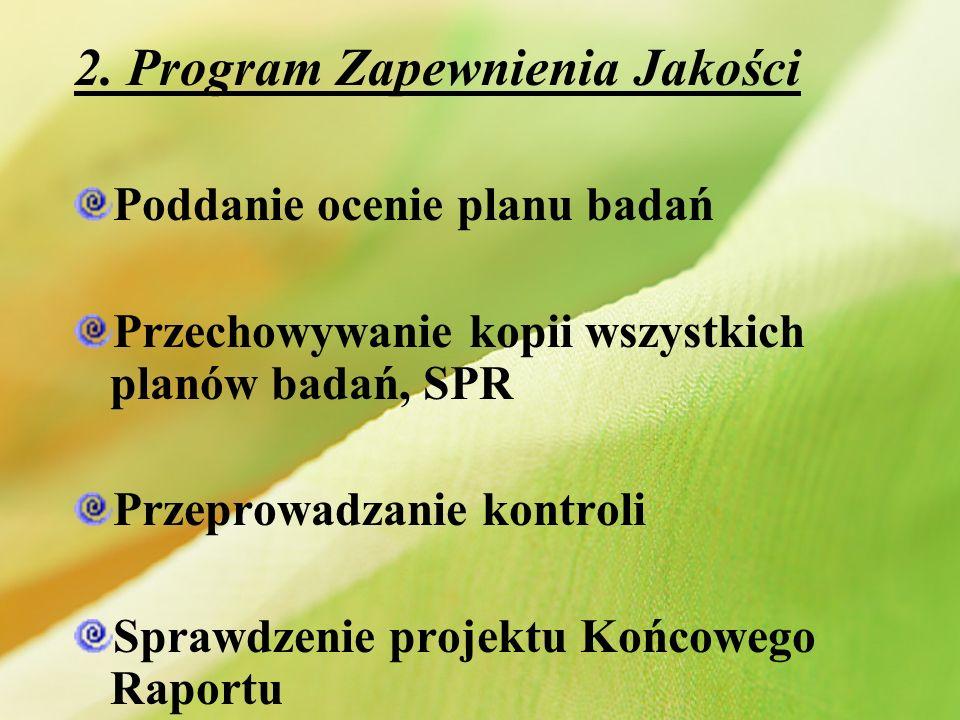 2. Program Zapewnienia Jakości