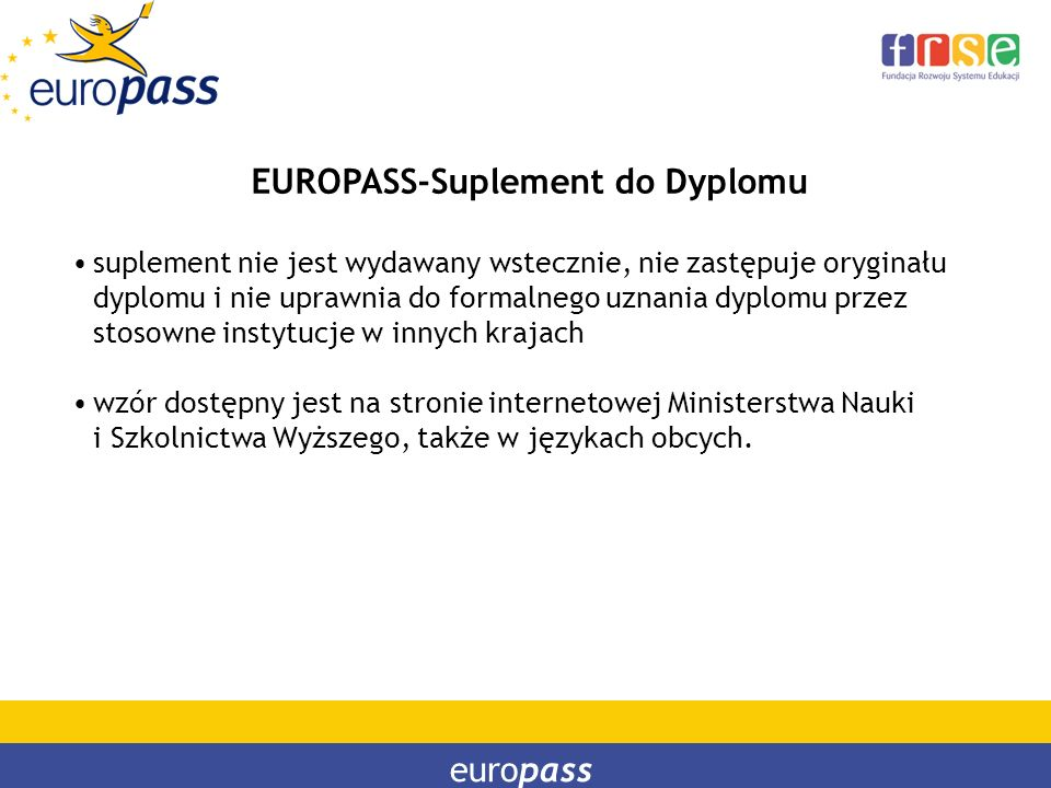 EUROPASS-Suplement do Dyplomu