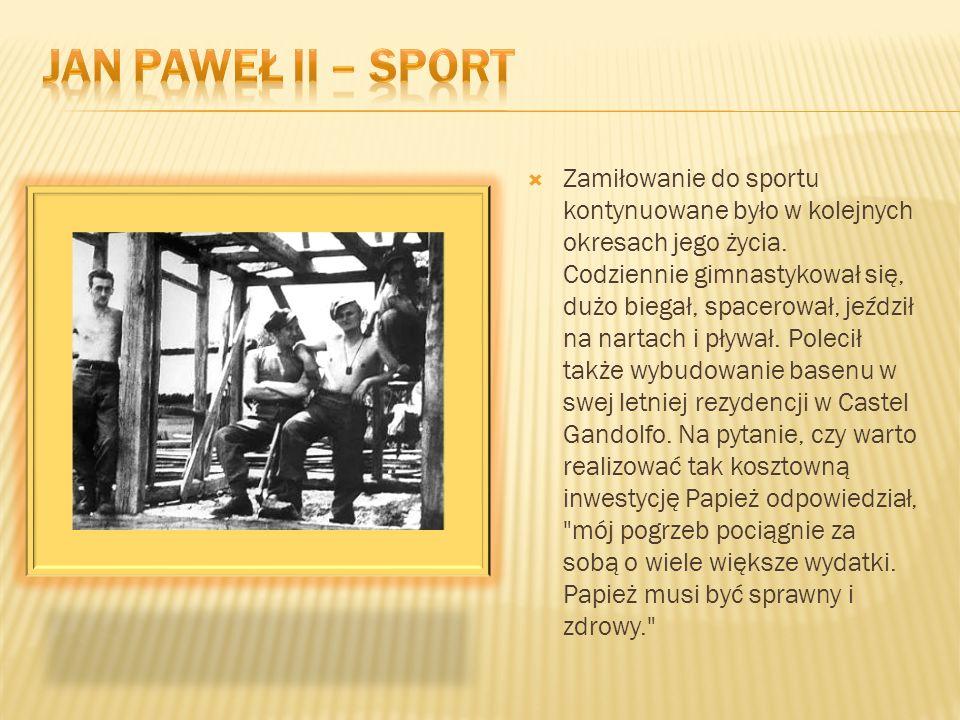 Jan paweł II – sport
