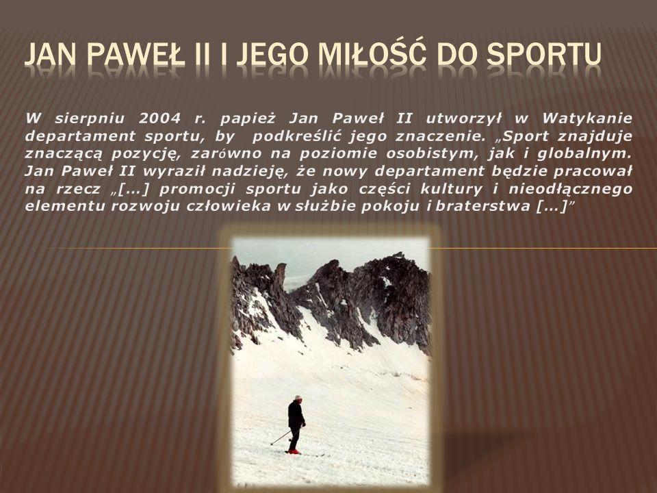 Jan paweł ii i jego miłość do sportu