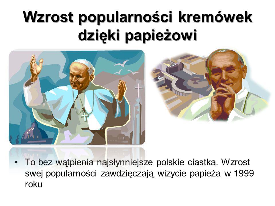 Wzrost popularności kremówek dzięki papieżowi