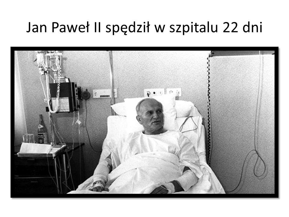 Jan Paweł II spędził w szpitalu 22 dni
