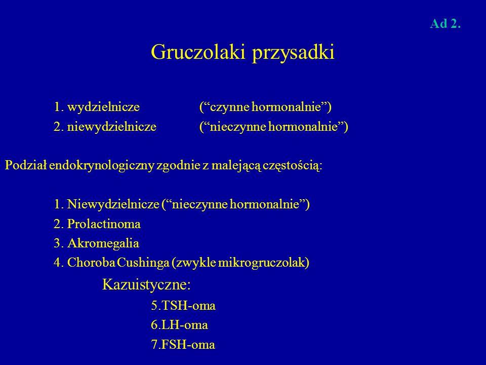 Gruczolaki przysadki Kazuistyczne: Ad 2.