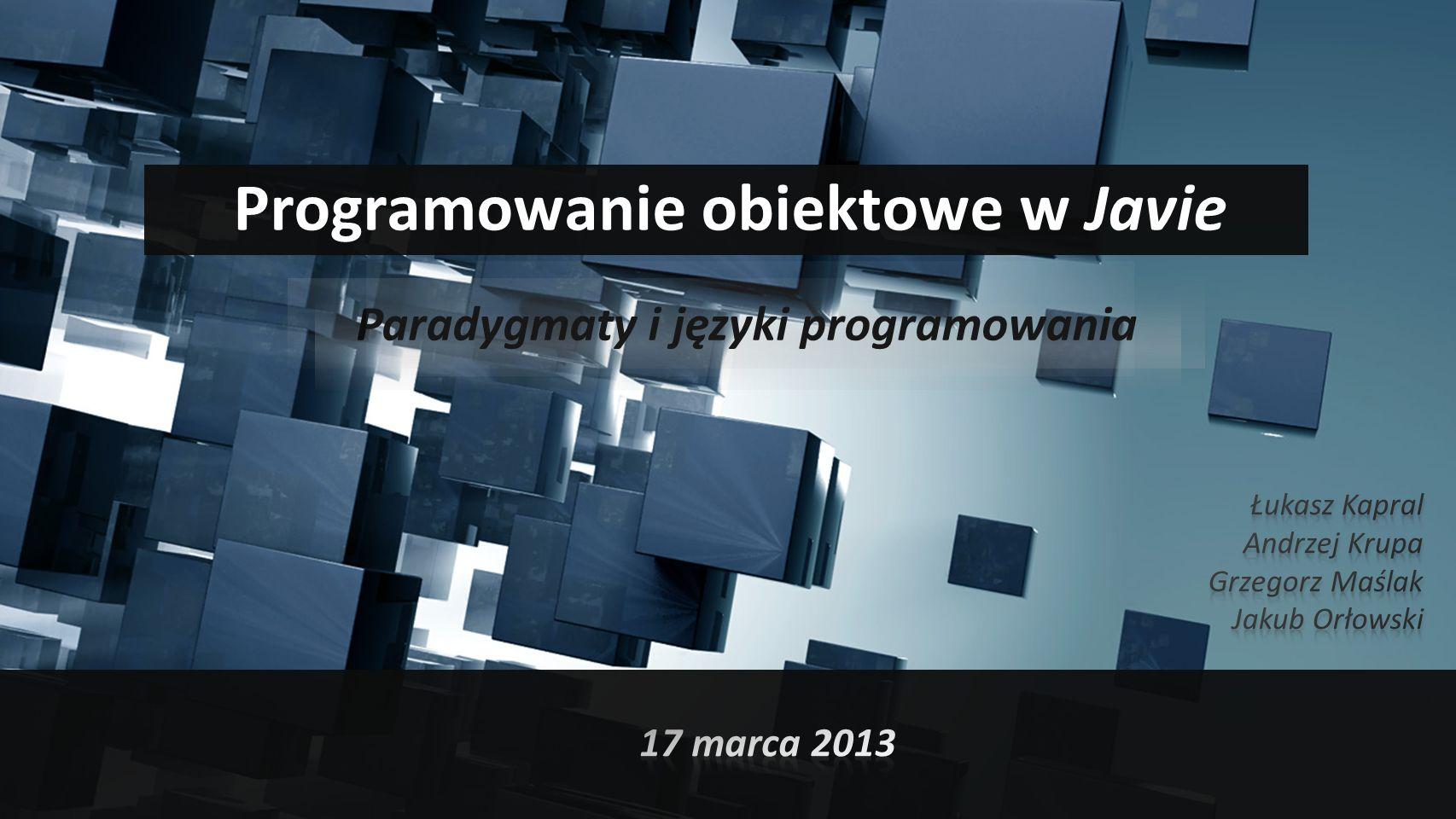 Programowanie obiektowe w Javie