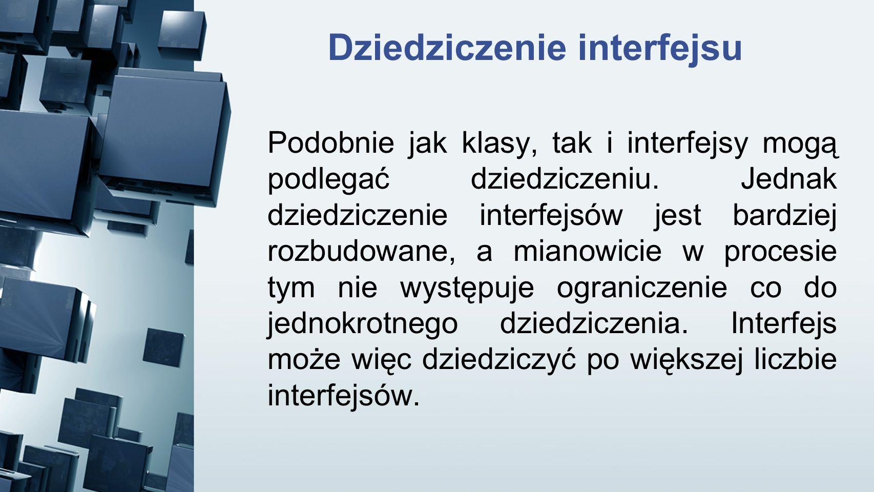 Dziedziczenie interfejsu