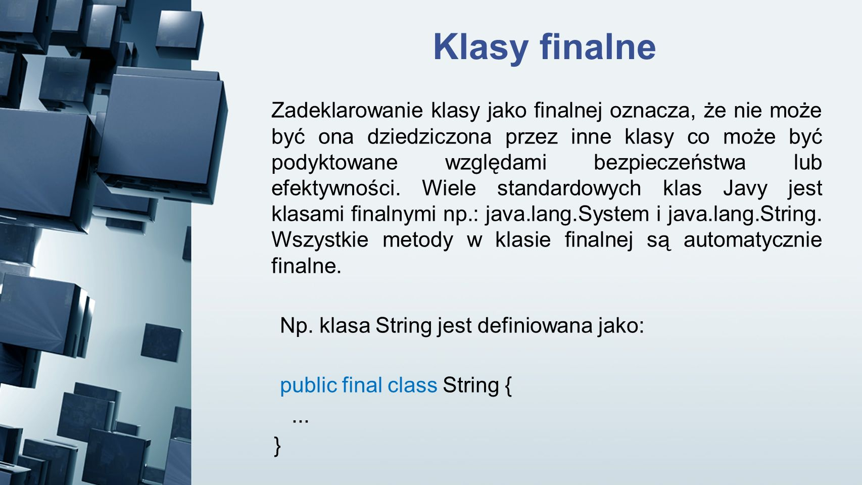Klasy finalne