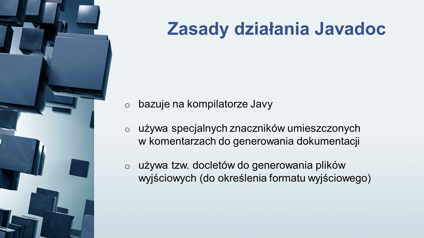 Zasady działania Javadoc