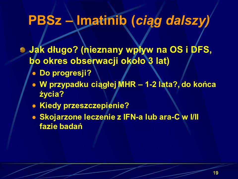 PBSz – Imatinib (ciąg dalszy)