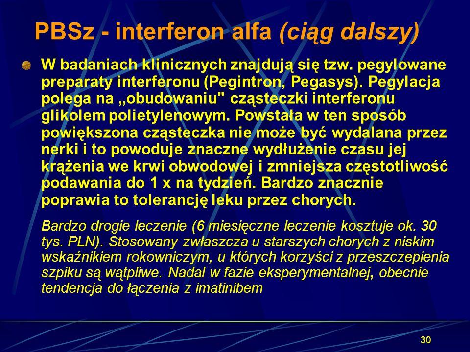 PBSz - interferon alfa (ciąg dalszy)