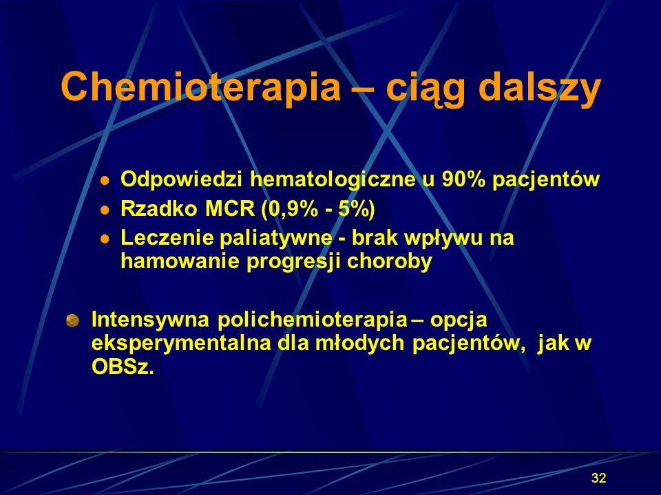 Chemioterapia – ciąg dalszy
