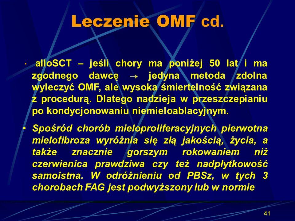 Leczenie OMF cd.